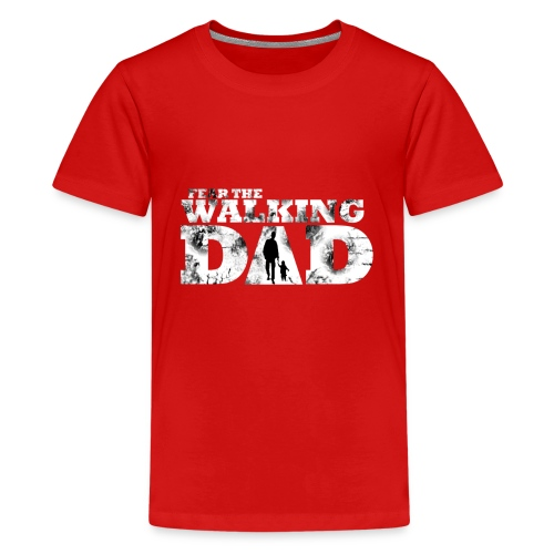 Walking Dad Vater Kind - Teenager Premium T-Shirt