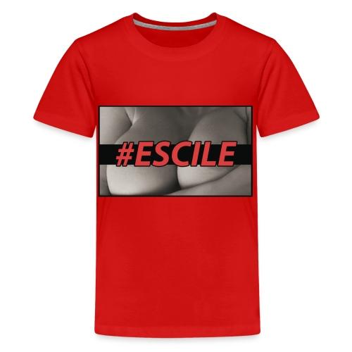 #ESCILEPILLOW - Maglietta Premium per ragazzi