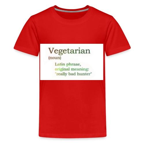 funny-vegetarian - Teenage Premium T-Shirt