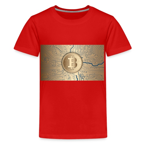 bitcoin 3089728 1920 - Teenager Premium T-Shirt