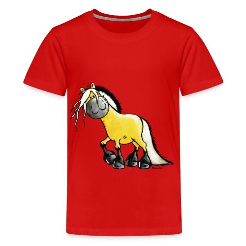 fjord_horse-png - Teenage Premium T-Shirt