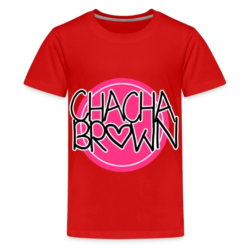 Chach Brown Big Logo - Teenager Premium T-shirt