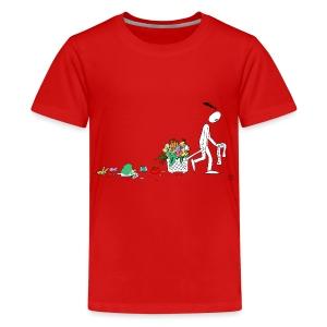 frukt og grønt handleveske - Premium T-skjorte for tenåringer