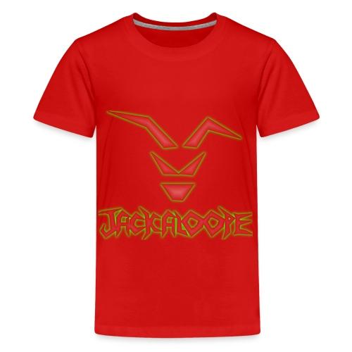 Logo_Schriftzug_alienglow - Teenager Premium T-Shirt