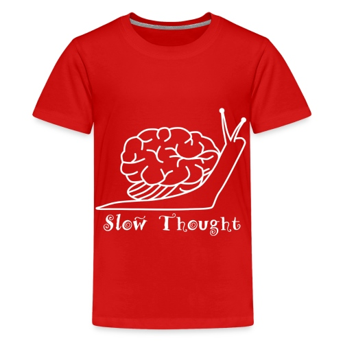 SlowThought (weiß) - Teenager Premium T-Shirt