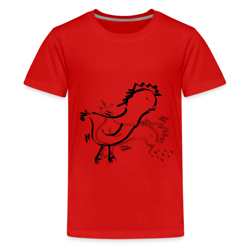 Das pickende Huhn - Teenager Premium T-Shirt