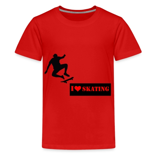 I Love Skating - Teenager Premium T-Shirt