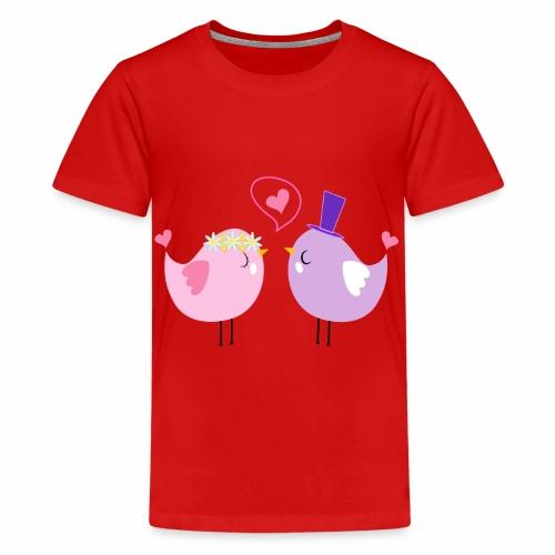Tortolos enamorados - Camiseta premium adolescente