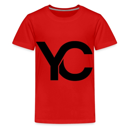 YC Black Logo - Teenage Premium T-Shirt