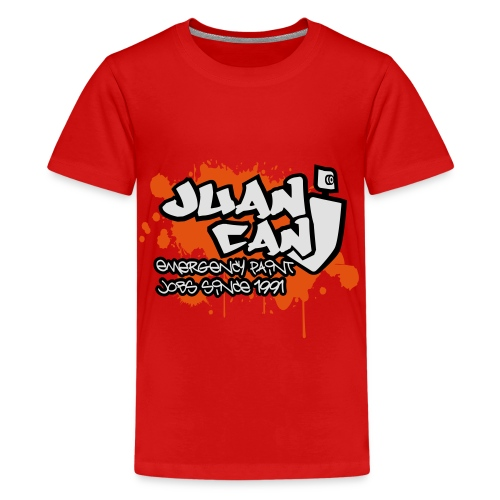 Juan can logo for spreadshirt Orange - Teenage Premium T-Shirt