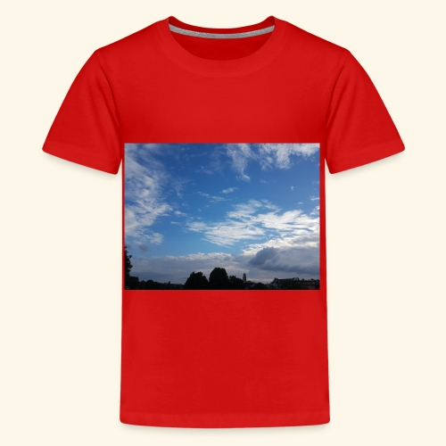 himmlisches Wolkenbild - Teenager Premium T-Shirt