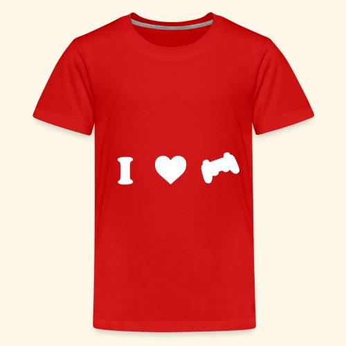 I love videogames - Camiseta premium adolescente
