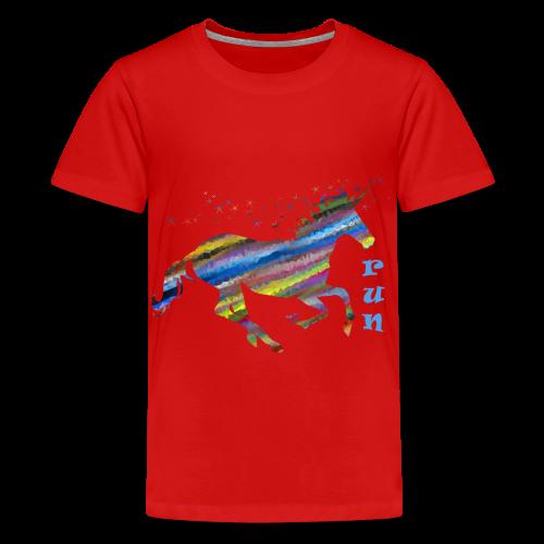 kunterbuntes Einhorn - Teenager Premium T-Shirt