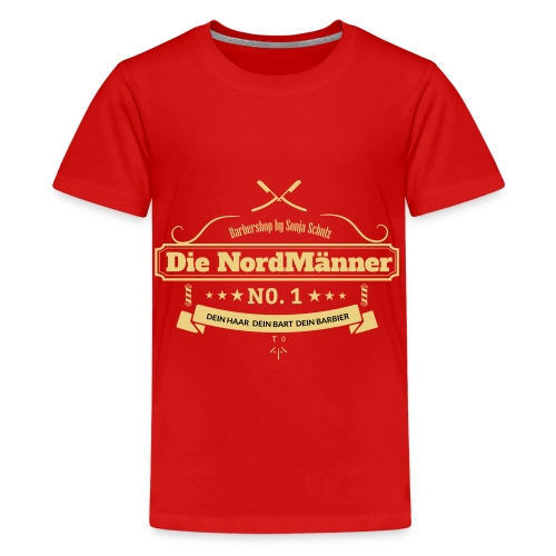 beige logo - Teenager Premium T-Shirt
