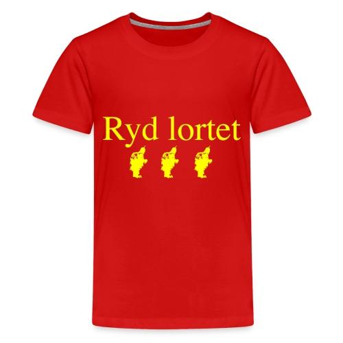 Ryd lortet - Børnekollektion - Teenager premium T-shirt