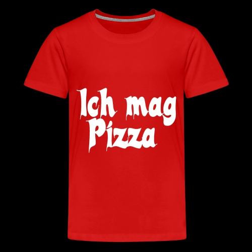 Pizza Logo white - Teenager Premium T-Shirt