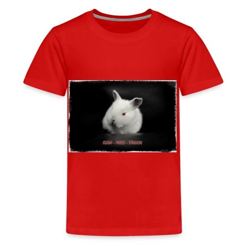 klein weiss tödlich - Teenager Premium T-Shirt