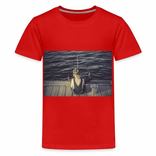 kleines Kind angelt - Teenager Premium T-Shirt