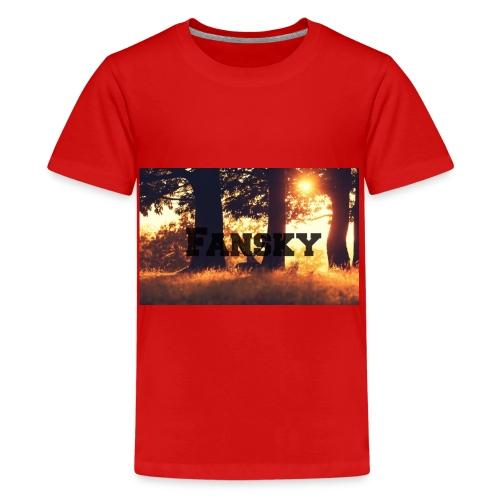 Fansky Black One - Camiseta premium adolescente