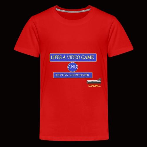 video sleep - Teenage Premium T-Shirt