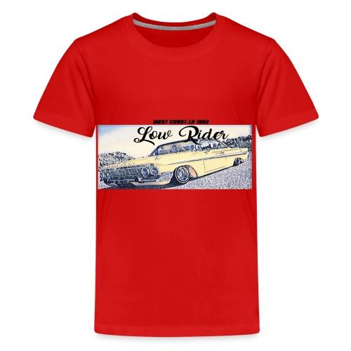 Lowrider impala 1963 vato loco west coast tshirt - Teenage Premium T-Shirt