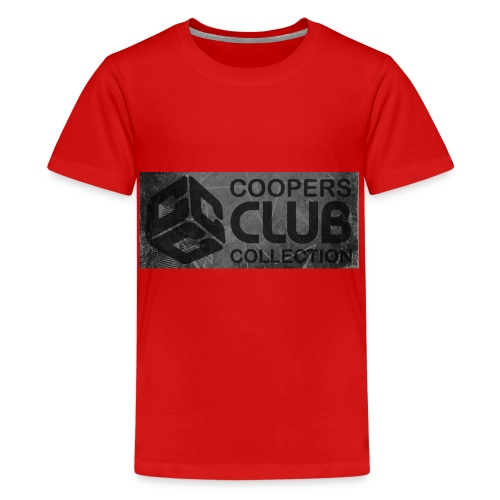 Coopers Club Collection distressed logo - Teenage Premium T-Shirt