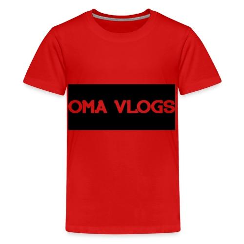 Oma Vlogs Black Logo - Teenage Premium T-Shirt