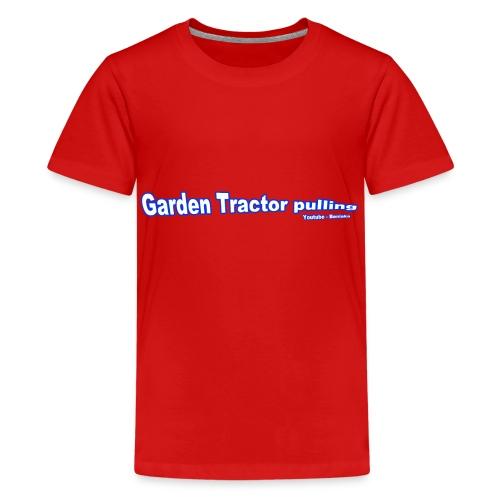Børne Garden Tractor pulling - Teenager premium T-shirt