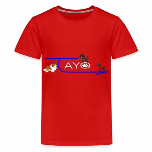 Tayola White - T-shirt Premium Ado