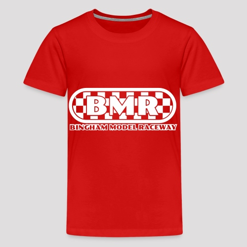 All white BMR logo - Teenage Premium T-Shirt