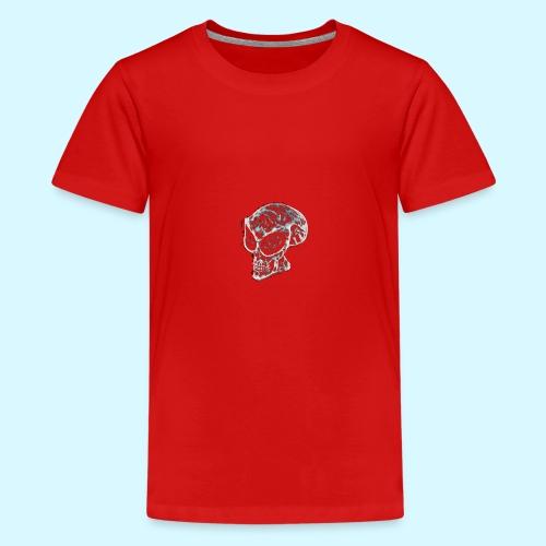 smokey Skull - Teenage Premium T-Shirt