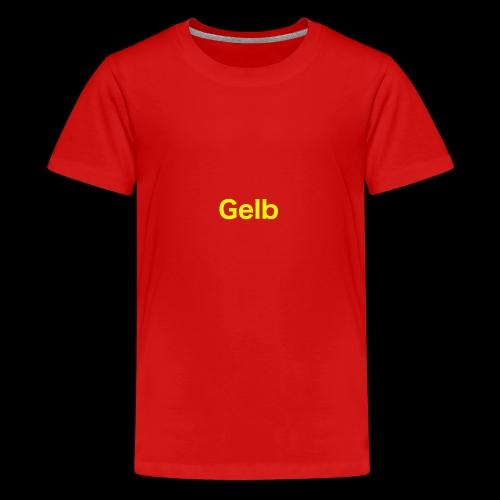 Gelb - Teenager Premium T-Shirt
