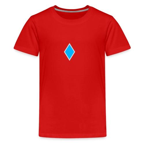 Diamond blue - Teenage Premium T-Shirt