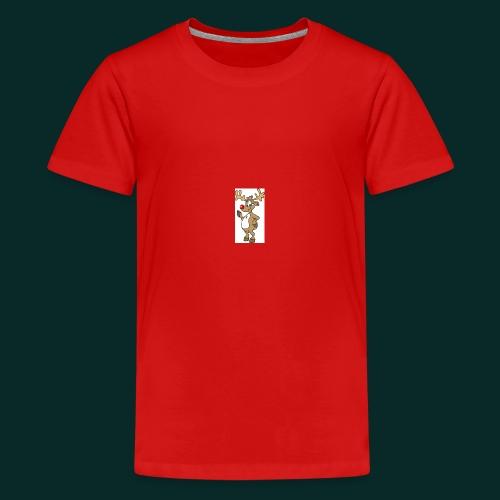 Baby-Lätzchen-Rentier-weihnachten - Teenager Premium T-Shirt