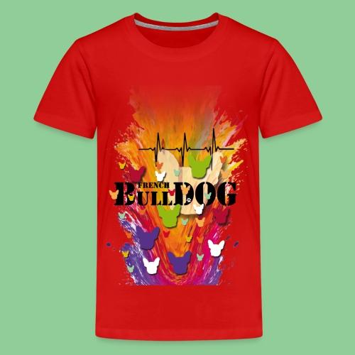 French Bulldog - Kids bunt - Teenager Premium T-Shirt