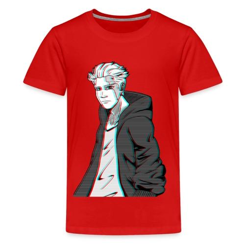 Cyber Glitch Guy - Teenage Premium T-Shirt