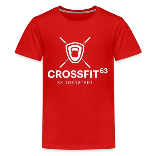 LogoCF63 - black - Teenager Premium T-Shirt