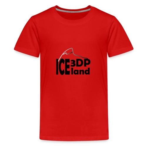 3DP Iceland logo - Teenage Premium T-Shirt