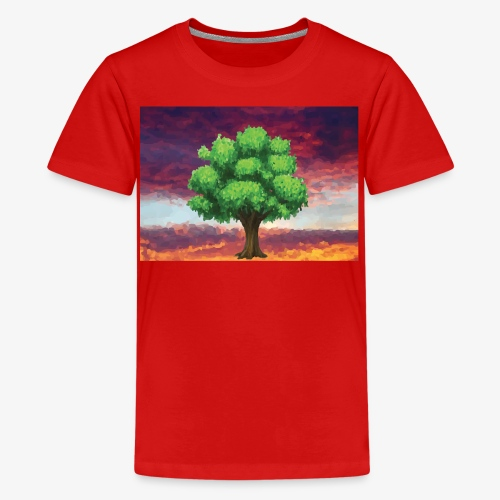 Tree in the Wasteland - Teenage Premium T-Shirt