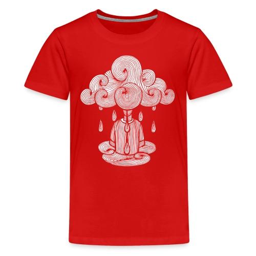nuage, lundi nuage pluie, le lundi c'est nul... - T-shirt Premium Ado