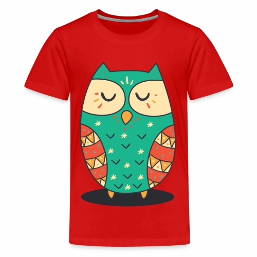 Cute Owl - Teenager Premium T-Shirt