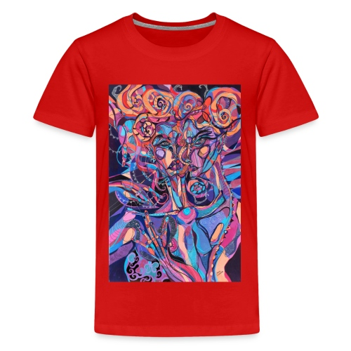 Evil Art Abstract - Teenage Premium T-Shirt