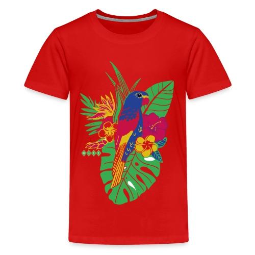 gaya flower parrot - Teenager Premium T-Shirt