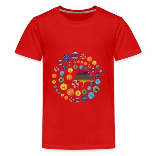 Espiral de Chakras - Camiseta premium adolescente