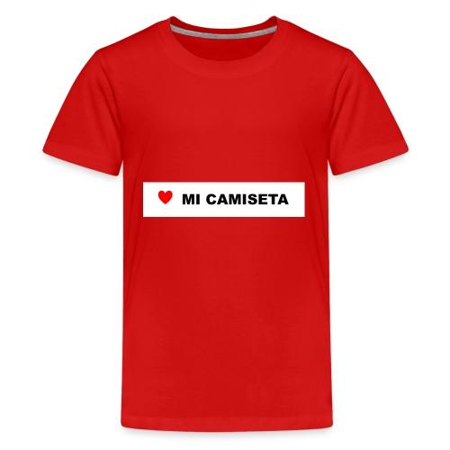 amomicamiseta - Camiseta premium adolescente