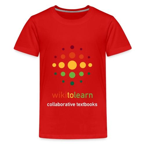 wikitolearn-logo - Maglietta Premium per ragazzi