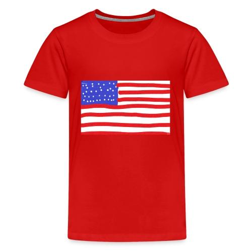 Usa- Flagge - Teenager Premium T-Shirt