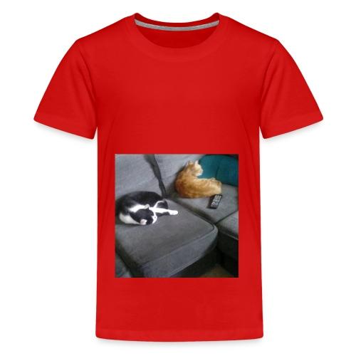 The Crazy Cute Cats - Teenage Premium T-Shirt