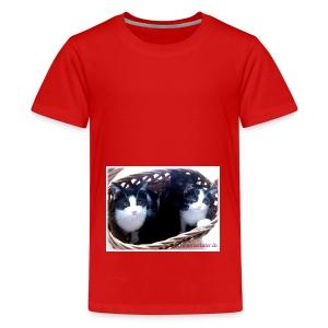 Katzenkorb - Teenager Premium T-Shirt