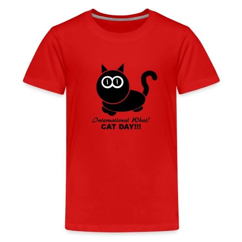 International Cat Day - Teenager Premium T-Shirt